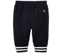 Petit Bateau Baby - Jungen Jogginghose Pantalon, Einfarbig, Gr. 92 (Herstellergröße: 24M/86Cm), Blau (Noctambule 79)
