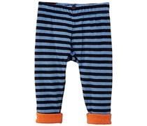 Petit Bateau Baby - Jungen Hose Pantalon, Gestreift, Gr. 86 (Herstellergröße: 18M/81Cm), Mehrfarbig (Noctambule/Prusse 08)