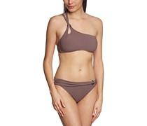 Palmers Damen Bikini-Set Bandeau Modern Glam, Einfarbig, Gr. 44, 85B (Herstellergröße: B/L (Cup B/Größe L)), Braun (Taupe 712)