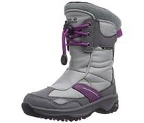 Jack Wolfskin GIRLS ICEFIELD TEXAPORE, Mädchen Warm gefütterte Schneestiefel, Grau (mallow purple 1117), 40 EU (6.5 Kinder UK)