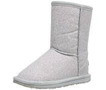 Emu Sparkle Lo, Mädchen Langschaft Stiefel, Silber (Silver), 25.5 EU (8 Kinder UK)