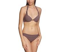 Palmers Damen Bikini-Set gefüttert Modern Glam, Einfarbig, Gr. 40, 80C (Herstellergröße: C/M (CUP C/Größe M)), Braun (Taupe 712)