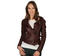 Tigha Jordan Lederjacke ox red