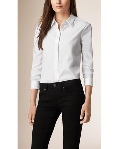 Hemd aus stretchbaumwolle - Burberry hemd damen ...