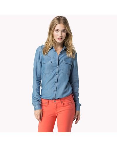 Tommy hilfiger damen brigitte jeanshemd 50 reduziert for Brigitte versand deutschland