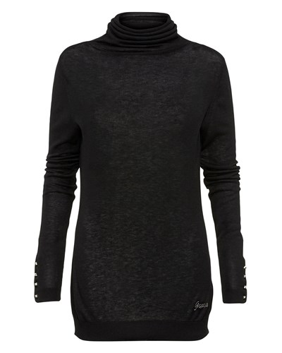 guess damen guess damen rollkragen pullover schwarz. Black Bedroom Furniture Sets. Home Design Ideas