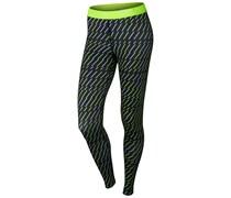 Nike Damen Sporthose Pro Bolt Print TIight, schwarz