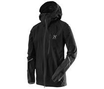 Haglöfs: Herren Trekkingjacke / Bergsportjacke L.I.M. III Jacket, schwarz