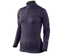 Nike Damen Langarm Laufshirt Element Halfzip - lila, lila