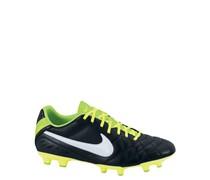 Nike Herren Fußballschuh Rasen Tiempo Natural IV LTR FG, schwarz / weiss