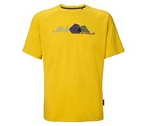Jack Wolfskin: Herren Outdoor-Shirt / T-Shirt Tempest Print T M, gelb