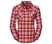 Jack Wolfskin: Damen Wanderbluse / Outdoor-Bluse / Flanellhemd Gifford Shirt Women, rot