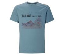 Jack Wolfskin: Herren Outdoor-Shirt Mossburn OC T-Shirt M, hellblau