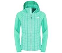 The North Face: Damen Outdoor-Isolationsjacke / Steppjacke mit Kapuze Thermoball Hybrid Hoody W, grün