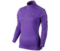 Nike Damen Laufshirt Reflective Element 1/2 Zip - lila, lila