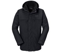 Jack Wolfskin: Herren Wanderjacke / Winterjacke / Parka North Country Men, schwarz