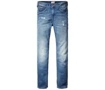 Hilfiger Denim: Damen Jeans 'Carrie tapered', stoned blue