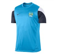 Nike Herren Fußball Trainingsshirt Manchester City Squad Training Top, hellblau