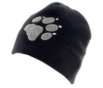 Jack Wolfskin: Unisex Mütze PAW HAT, schwarz
