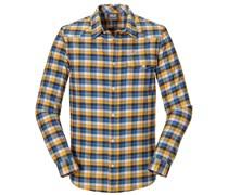 Jack Wolfskin: Herren Wanderhemd / Flanellhemd Edmont Shirt Men, gelb