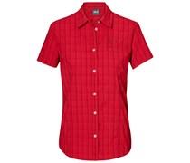 Jack Wolfskin: Damen Bluse Centaura Stretch Vent Shirt, rot