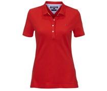 Tommy Hilfiger: Damen Polo-Shirt New Stripe, beere