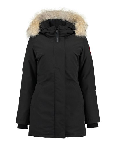 canada goose damen canada goose damen daunenparka victoria schwarz reduziert. Black Bedroom Furniture Sets. Home Design Ideas
