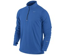 Nike Herren Langarm Laufshirt Element Halfzip - blau, blau
