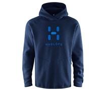 Haglöfs: Herren Fleecepullover mit Kapuze Swook Logo Hood Men, nachtblau