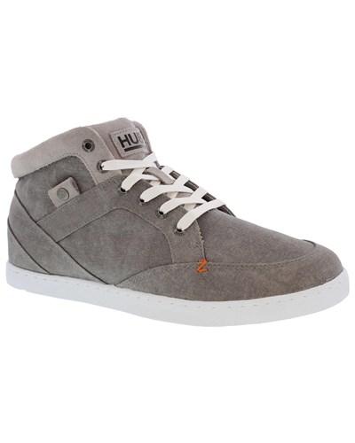 hub herren sneaker panama canvas grey white grau. Black Bedroom Furniture Sets. Home Design Ideas