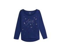 Juicy Couture Langarmshirt Bugs aus Baumwoll-Jersey - blue