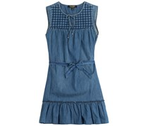 Juicy Couture Besticktes Denim-Dress - Blau