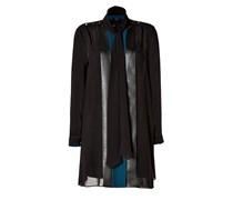 Silk Evelyn Scarf Dress in Black/Drawing