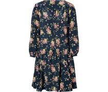 Seiden-Dress mit Blumen-Print