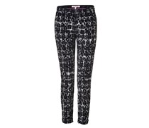 Juicy Couture Black Combo Leopard and Plaid Pant - black
