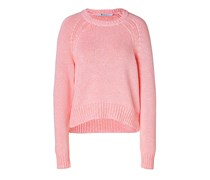 T by Alexander Wang Cotton Blend Crewneck Pullover in Persimmon