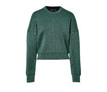 Alexander Wang Cropped-Pullover im Metallic-Look - green