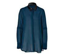 Silk Deyton Shirt in Blue