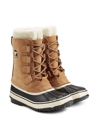 sorel damen sorel gef tterte winter boots 1964 pac 2 aus leder und gummi camel reduziert. Black Bedroom Furniture Sets. Home Design Ideas
