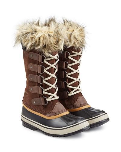 sorel damen sorel winter boots joan of arctic mit fell optik braun reduziert. Black Bedroom Furniture Sets. Home Design Ideas