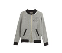 Juicy Couture Bomberjacke Varsity Bling aus Wolle und Baumwolle - grey