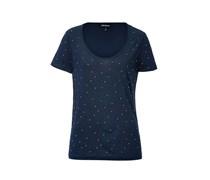 T-Shirt mit Kristallsteinen in Regal