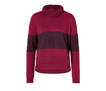 Wool-Mohair Rathbone Cropped Pullover in Oxblood/Black