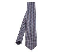Knot-print silk tie