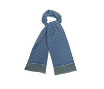 Medallion-print silk scarf