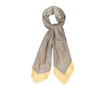 Medallion-print scarf