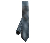 Broken-stripe jacquard silk tie
