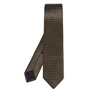 Retro silk tie