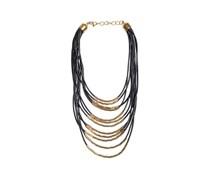 Halskette, schwarz/gold, Damen