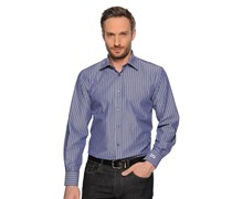 Hemd Regular Fit, blau gestreift, Herren